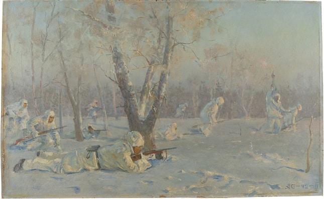 Newly conserved Soviet-era painting illuminates diplomatic history